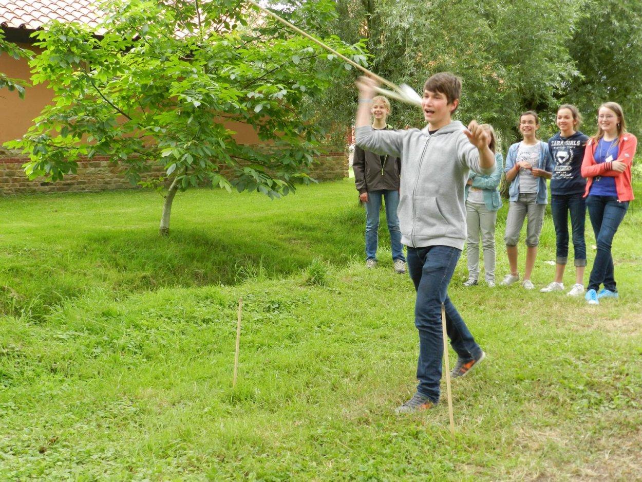 Atelier chasse préhistorique Sagaie et Propulseur