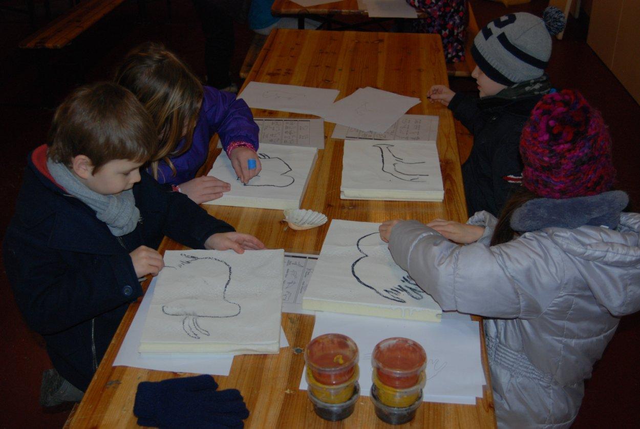 Atelier enfant peinture paléolithique