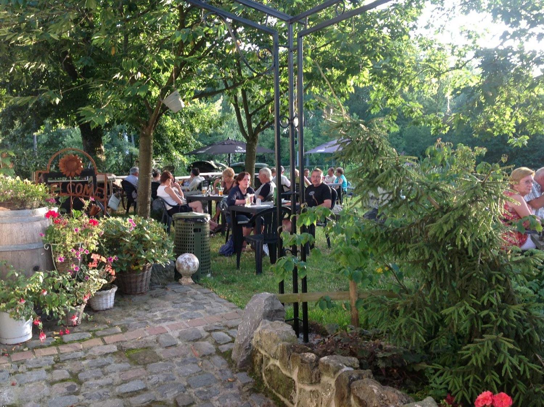 jardin restaurant taverne Saint Géry