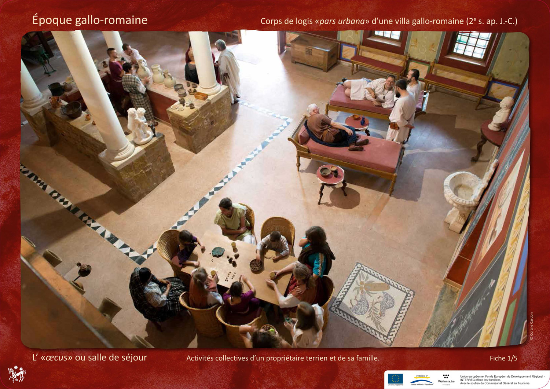 oecus villa Archéosite Aubechies