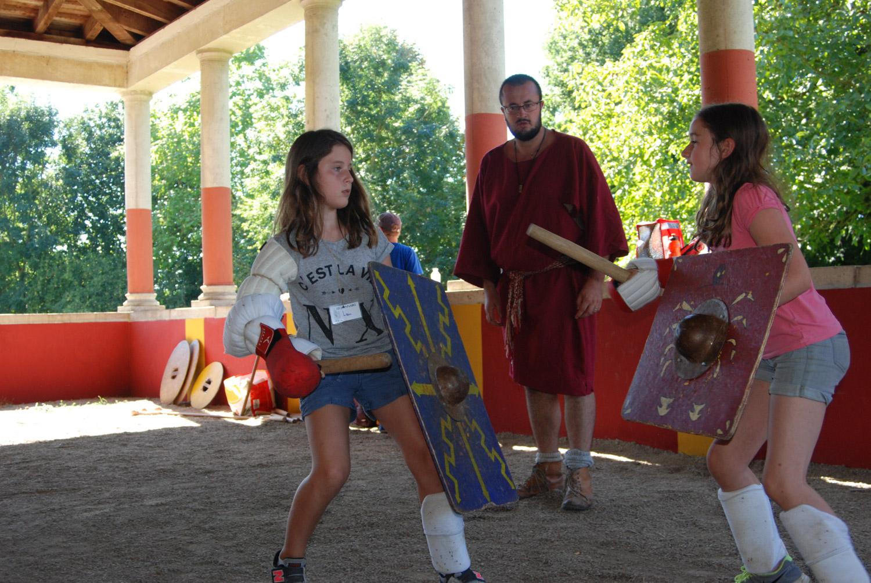stage gladiateur- archéosites Aubechies. combat