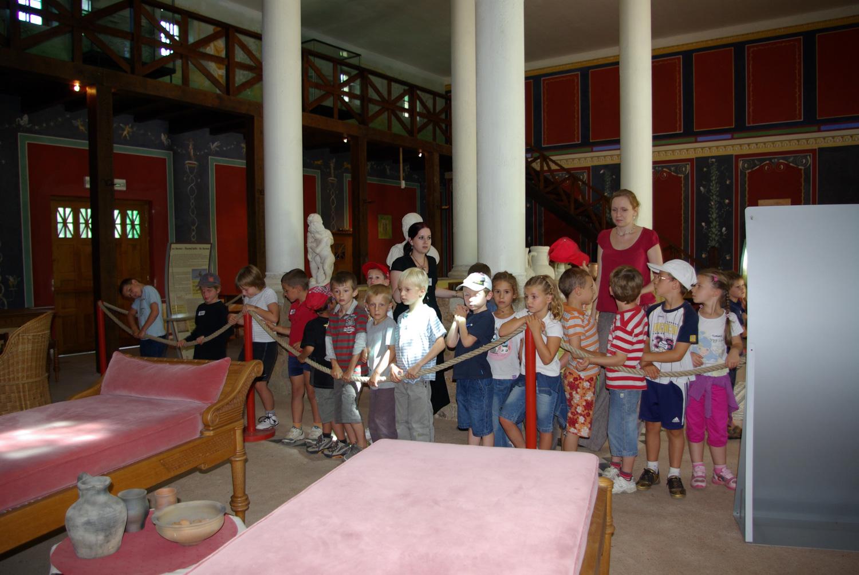 visite scolaire intérieur villa gallo-romaine