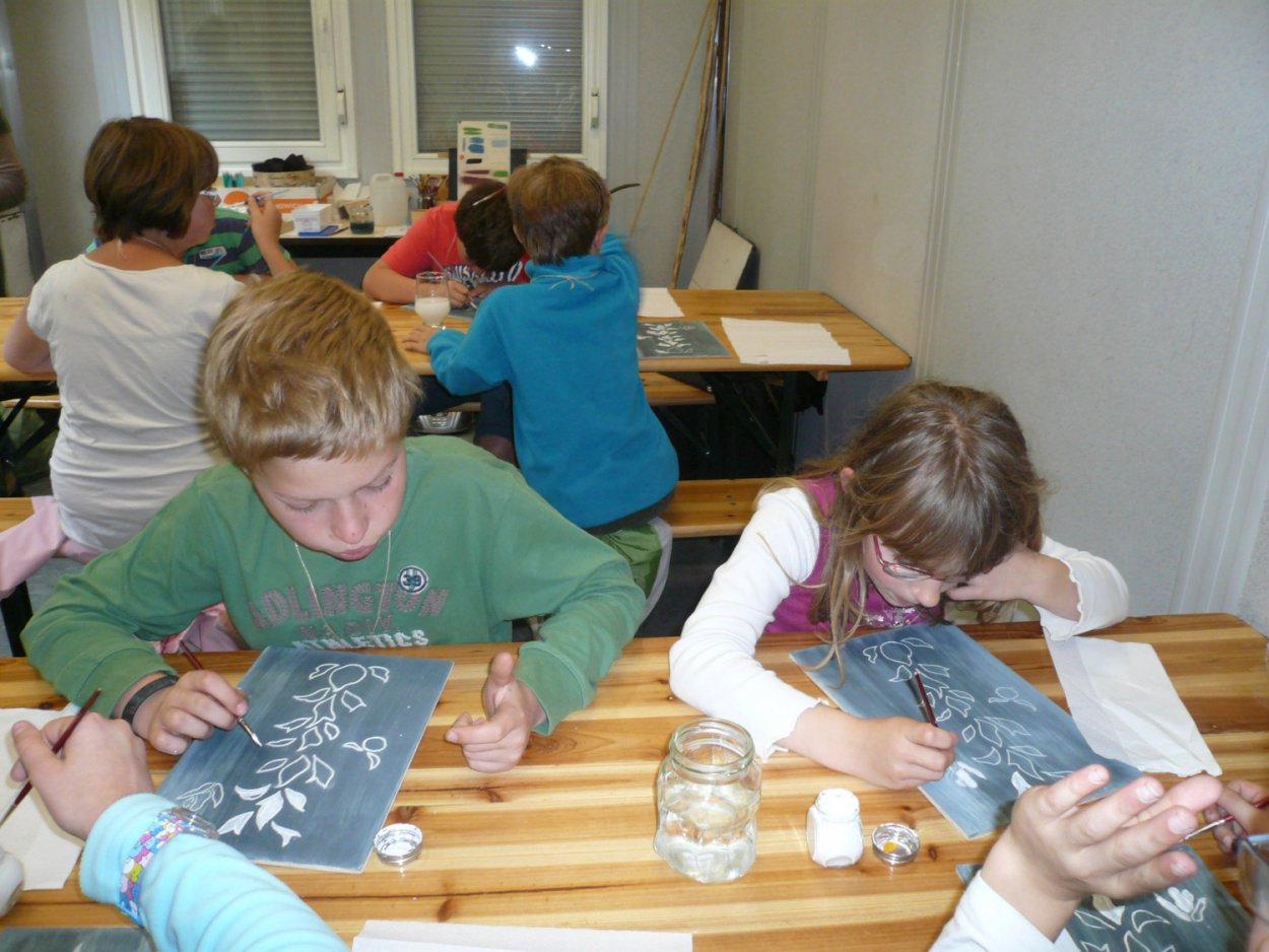 Atelier enfant peinture romaine
